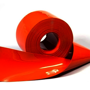 Lanière orange 2280 x 190 x 2 mm pour extrémité du rideau ...